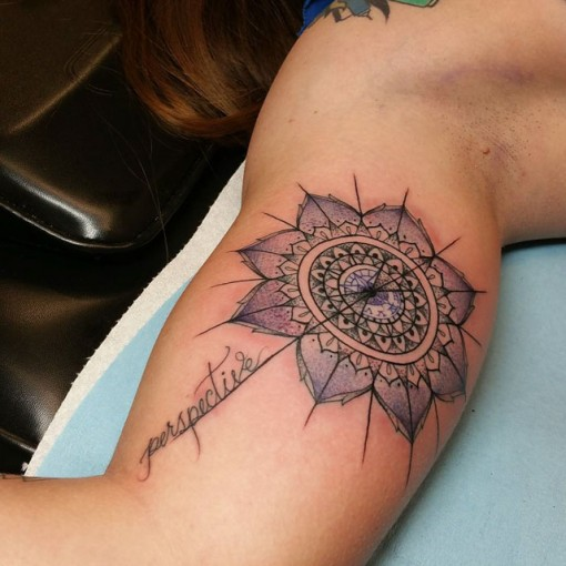 Mandala Perspective Tattoo by pixietattooist2