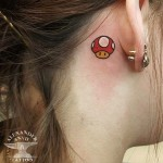 Semicolon tattoo by marissaphoenixtattoo best tattoo for Mario mushroom tattoo
