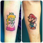 Mario and Princess Peach Tattoos