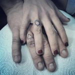 Matching Couple Finger Tattoos