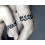 leaves tattoo for couples matching