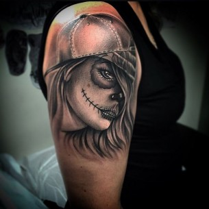 Mexican Dead Girl Tattoo