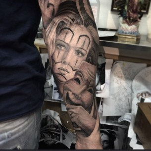 Mexican Mask Tattoo