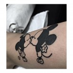 Mickey and Minnie Mouse Tattoo Kiss