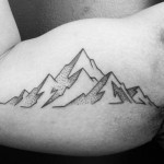 Mountain Outline Tattoo
