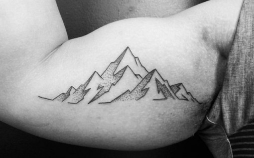 Mountain Outline Tattoo by ofrick
