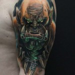 Orc Tattoo on Shoulder