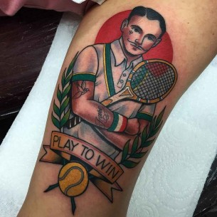 Play to Win Tattoo Tennis