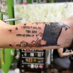 Quote Tattoo Inner Bicep