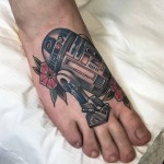 R2D2 Tattoo on Foot