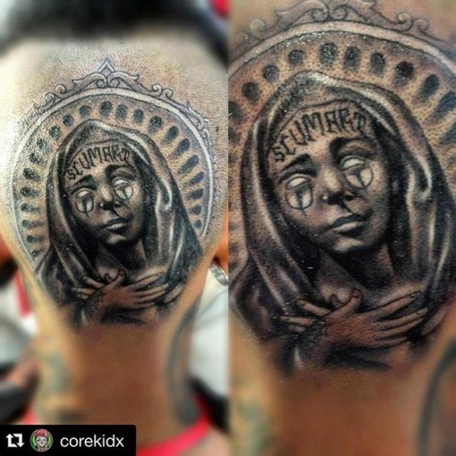 Religious Head Tattoo