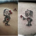 Robot Tattoos Love