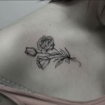 Rose Collar Bone Tattoo by Caitlin Lindstrom-Milne