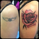 Rose Cover Up Tattoo