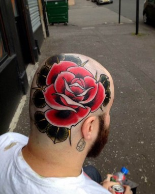 Rose Head Tattoo