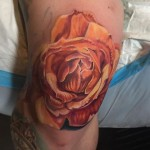 Rose Knee Tattoo