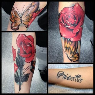 Rose Tattoo Cover Up