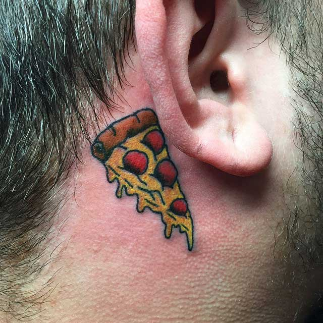 Small Pizza Tattoo