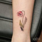Small Poppy Tattoo