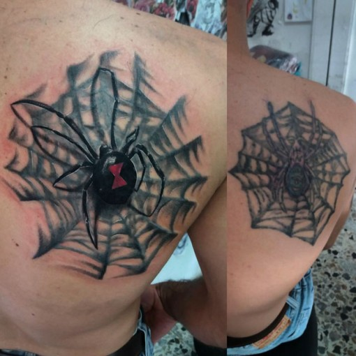 Spider Tattoo Cover Up