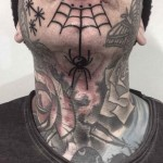 Spider Web Tattoo on Chin