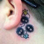 Star Tattoo Designs Behind Ear