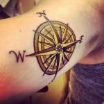 Tattoo Compass Rose