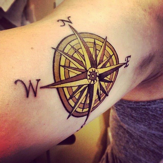 Tattoo Compass Rose at elle1905