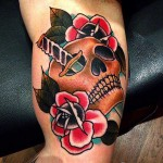 Tattoo Skull and Roses by анкн