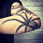 elbow tattoo spider