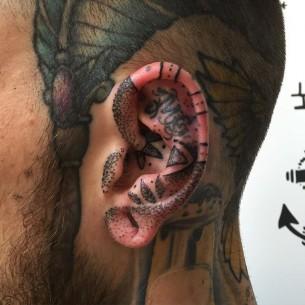 Tattoo in Ear