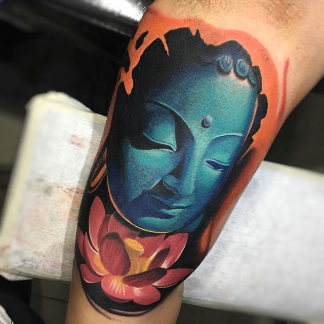 Tattoo of Buddha by tattoosbysantiago