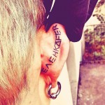 Tattoo on Back of Ear