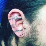 Tattoo on Ear Cartilage by @theleoux