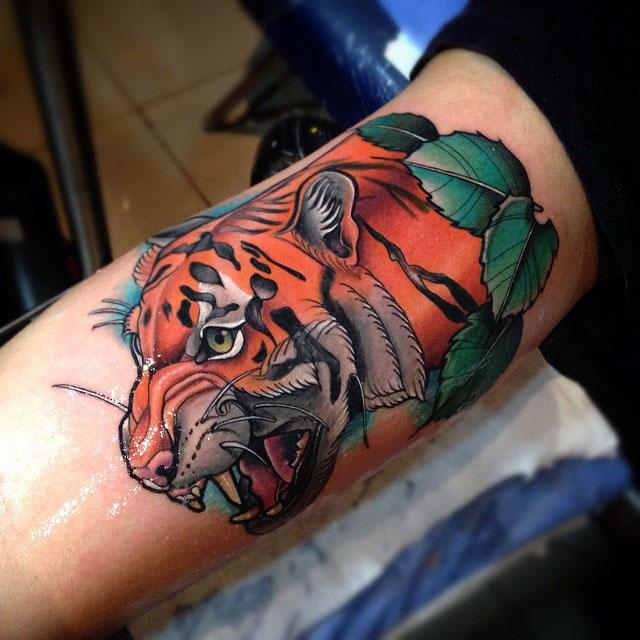 Tiger Arm Tattoo by tattoosbysantiago2