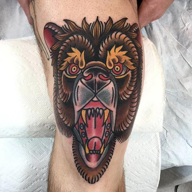 Traditional Bear Tattoo
