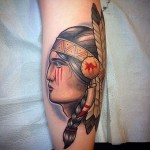 Traditional Indian Tattoo by Kevin Dixon