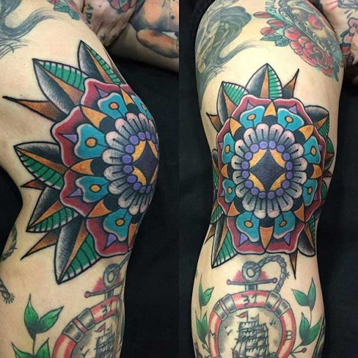 Traditional Knee Tattoo