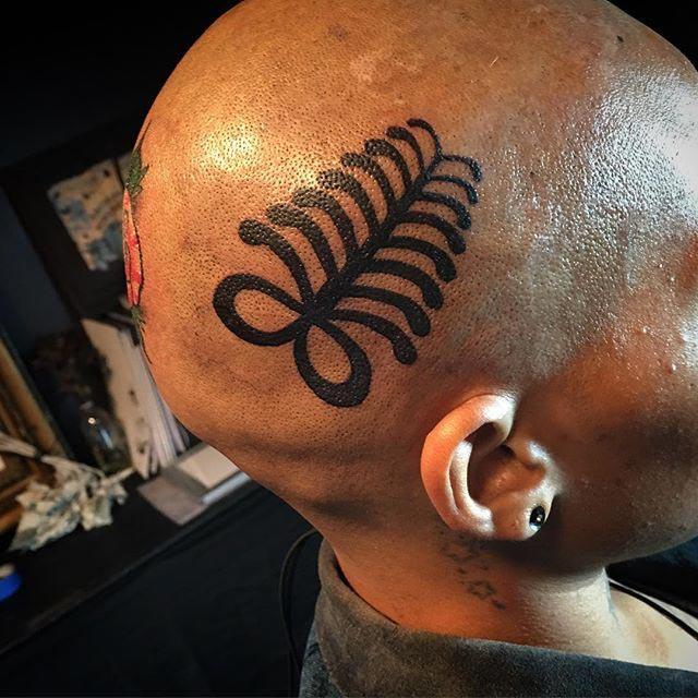 Tribal Tattoo Head