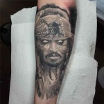 Undead Jack Sparrow Tattoo