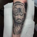 Undead Jack Sparrow Tattoo
