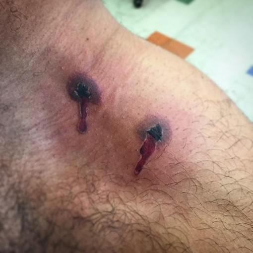 Vampire Bite Tattoo by badboy_ink_