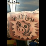 Wild Hogs Tattoo on Bicep by javistattoos