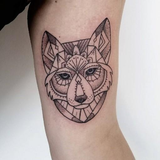 Wolf Bicep Tattoo