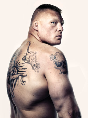 blade tattoo of brock lesnar