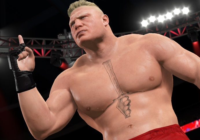 brock lesnar torso 3d tattoo