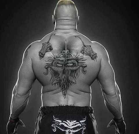 brock lesnars demon tattoo