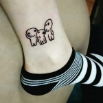 3 UFOs Tattoo on Ankle