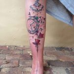 Abstract Watercolor Shin Tattoo by jared_burn