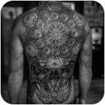 back tattoo skull